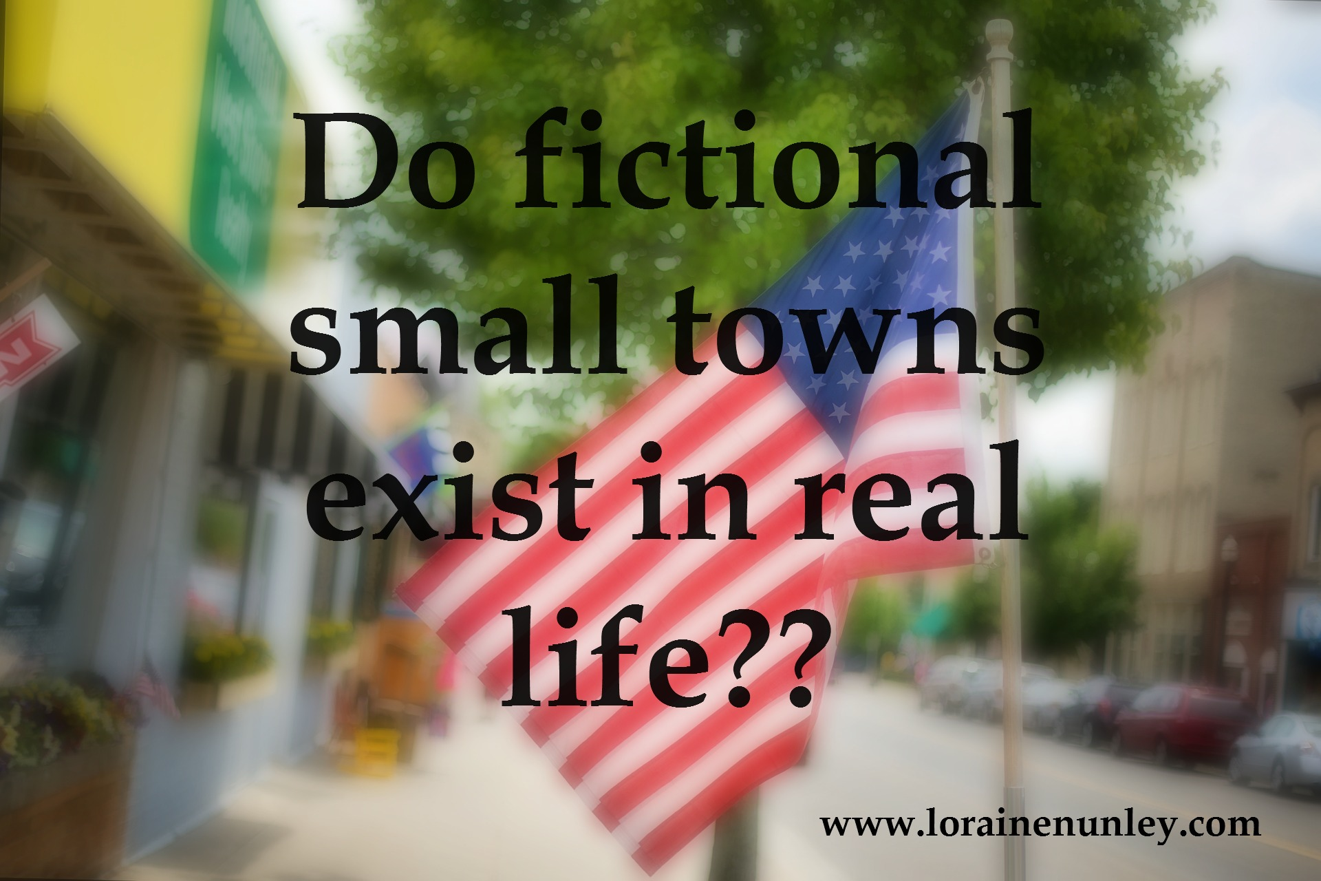 Do fictional small towns exist in real life?