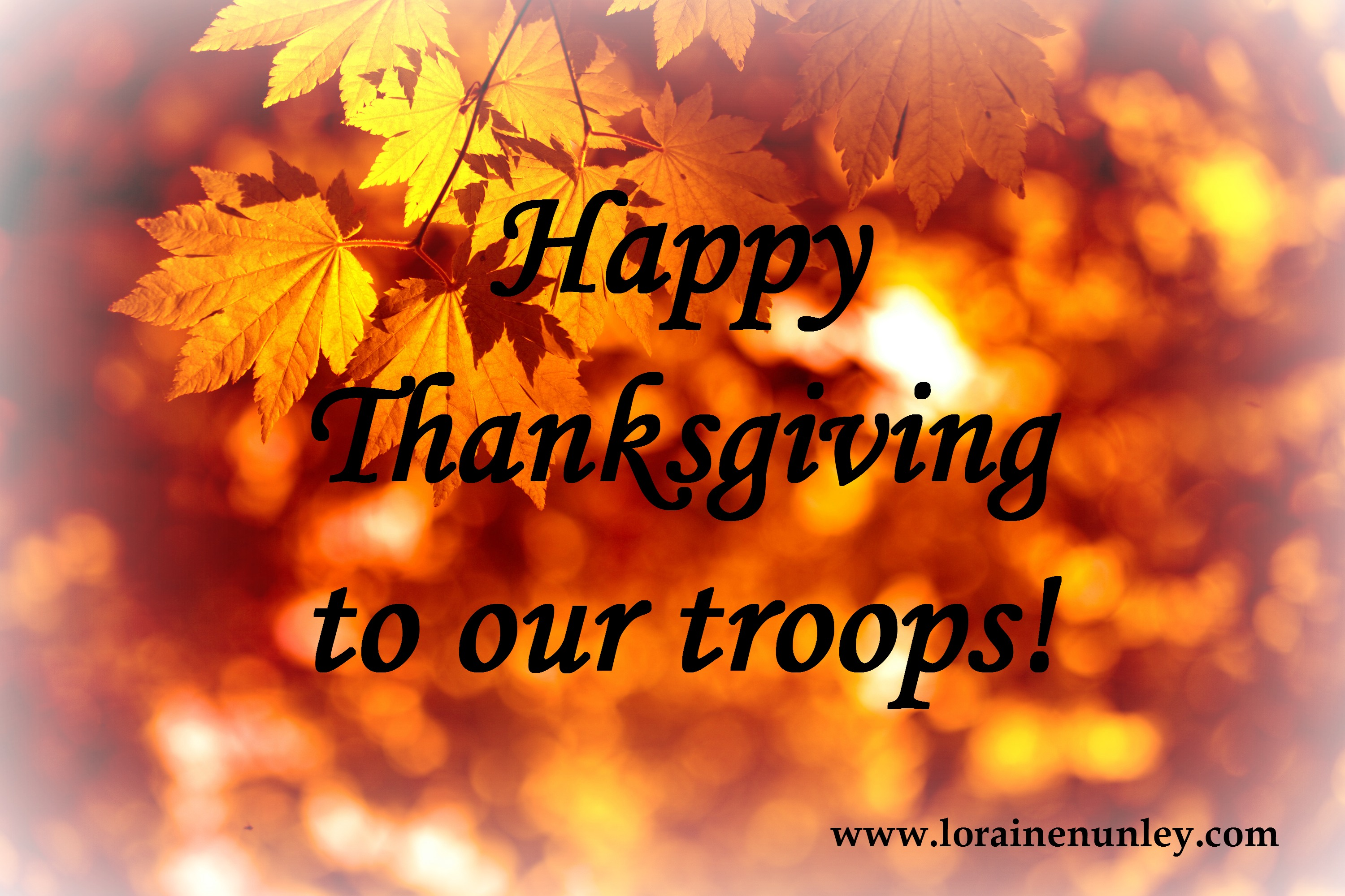 Thankful for our military