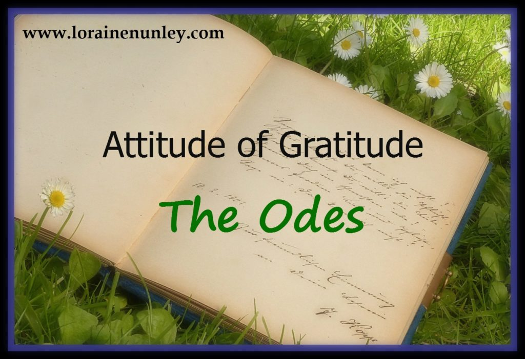 Attitude of Gratitude - The Odes | www.lorainenunley.com