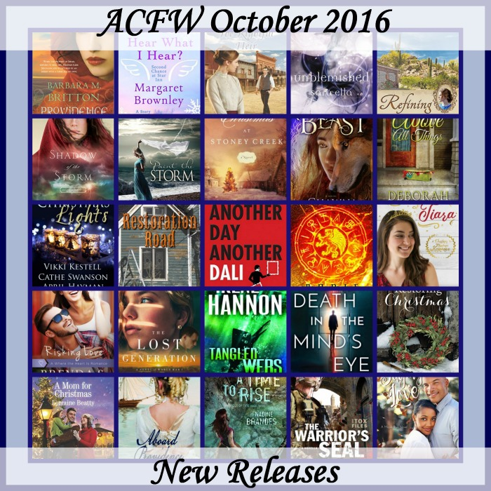 October 2016 New Releases from ACFW authors