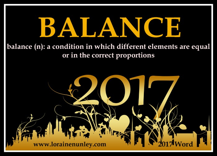 Welcome 2017! - My word for the year