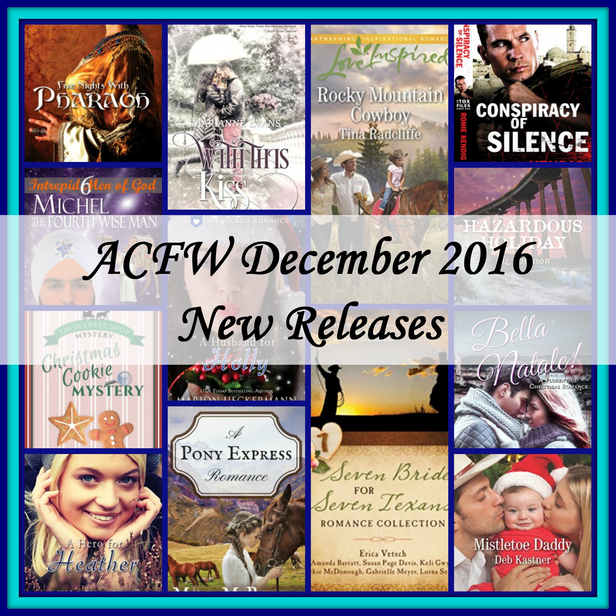 December 2016 New Releases from ACFW authors