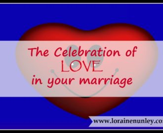 The celebration of love in your marriage | www.lorainenunley.com