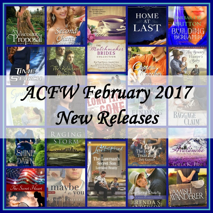 February 2017 New Releases from ACFW Authors