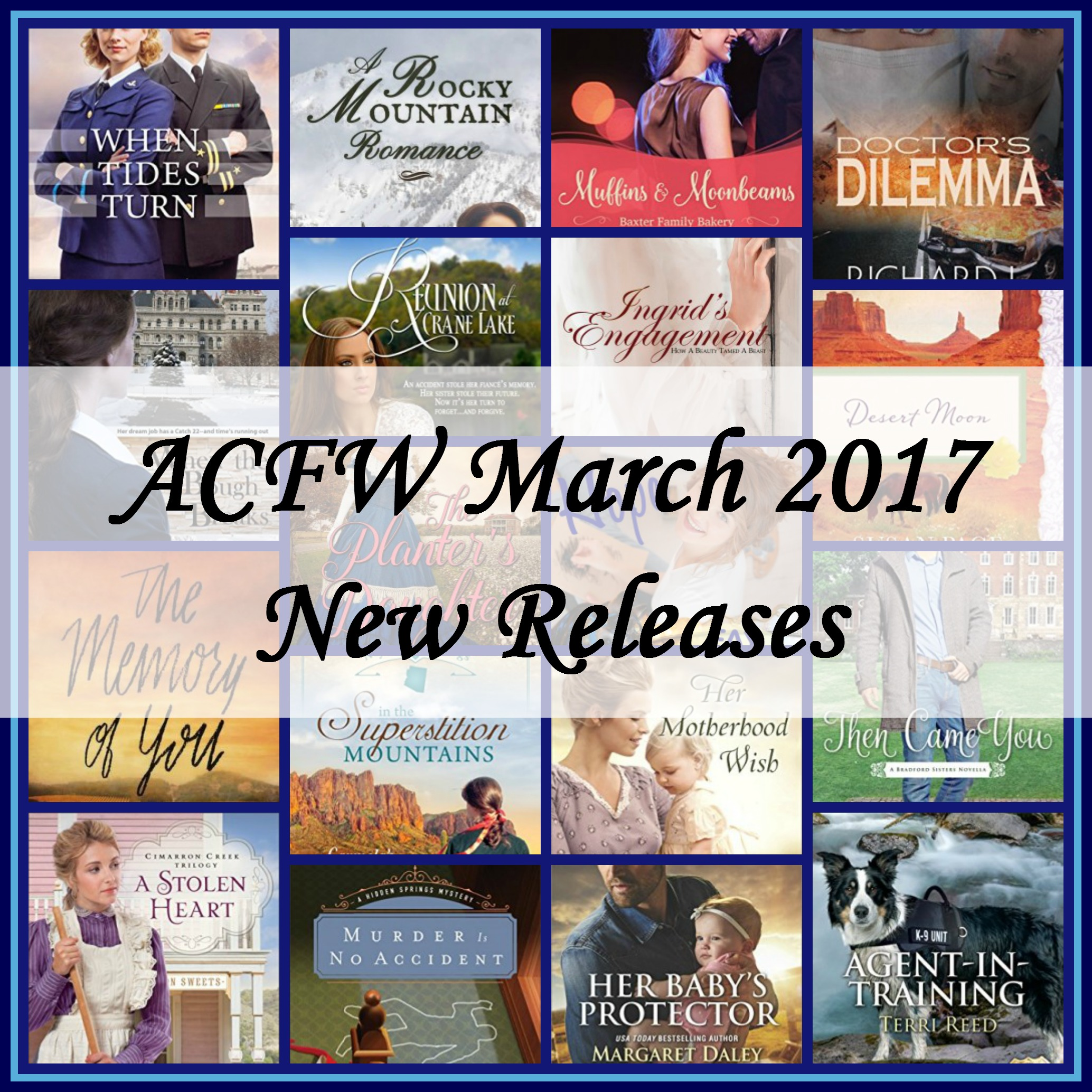 March 2017 New Releases from ACFW Authors