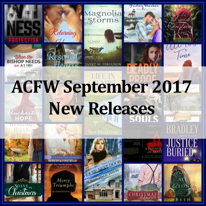 September 2017 New Releases from ACFW Authors