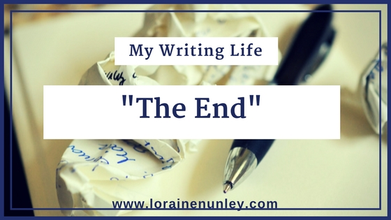 "My Writing Life: Typing ""The End"" 