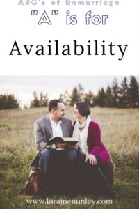 """A"" is for Availability - ABC's of remarriage 