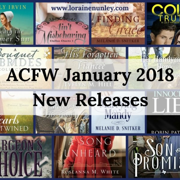 January 2018 New Releases from ACFW Authors