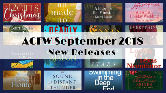 September 2018 New Releases from ACFW Authors