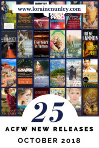 October 2018 New Releases from ACFW Authors @lorainenunley