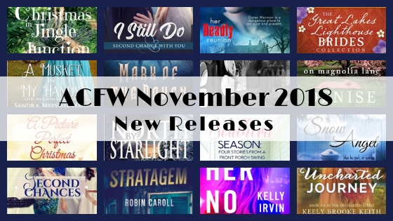 November 2018 New Releases from ACFW Authors