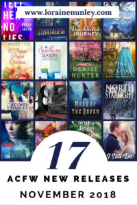 November 2018 New Releases from ACFW Authors @lorainenunley