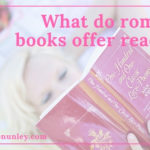 What do romance books offer readers? @LoraineNunley