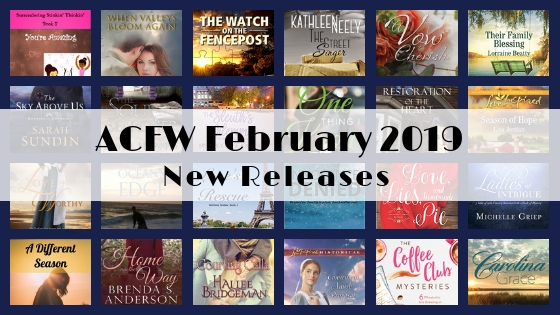February 2019 New Releases from ACFW Authors