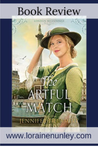 The Artful Match by Jennifer Delamere | Book Review by Loraine Nunley #BookReview @lorainenunley