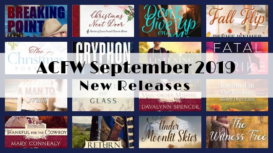 September 2019 New Releases from ACFW Authors