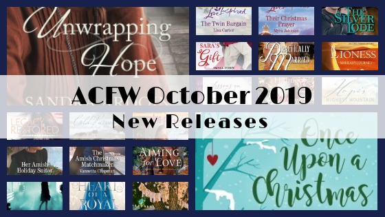 October 2019 New Releases from ACFW Authors