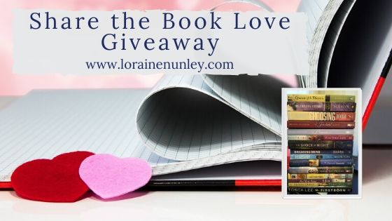 Share the Book Love Giveaway | LoraineNunley.com
