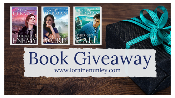 Giveaway at Loraine Nunley's website: Sophie Trace Trilogy by Kathy Herman #bookgiveaway