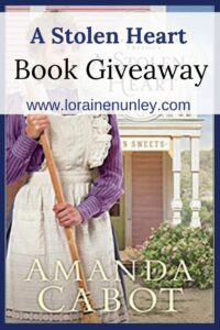 Giveaway at Loraine Nunley's website: A Stolen Heart by Amanda Cabot #bookgiveaway