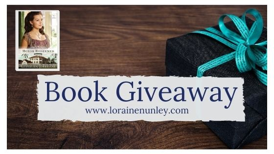 Book Giveaway: Honor Redeemed by Christine Johnson